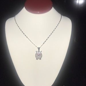 White Gold Filled Owl Necklace